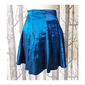 VINTAGE | Blue Iridescent Skirt